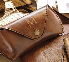Saddle Leather Eyeglass Case  $29.50
