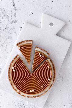 mascarpone and white chocolate tart with lotus cookie base