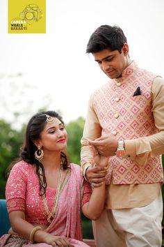 printed nehru jacket, white and pink , beige and pink, bandhgala