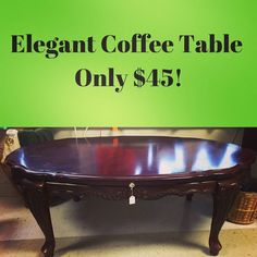 A new arrival - this #coffeetable is graceful as well as a great spot for holiday #decorations! Open 10am-5pm at 3916 South Crater Rd in Petersburg.    #charityshop #whybuynew #dining #buylocal #shoplocal #thriftstore #thriftshop #hopewellva #petersburgva #colonialheights #chesterfield #rva #804 #vintagefurniture #furniture #thriftfurniture #table #vintagetable #livingroomdecor #livingroom #homedesign