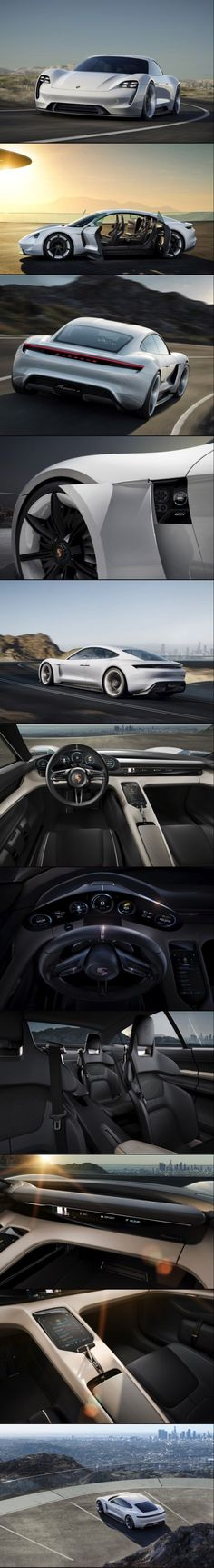 Cool Porsche 2017: Porsche Is On a Mission With Their New Electric Powered Concept... Go fast cars