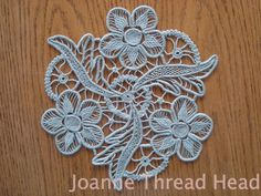 Crochet and needle lace beautiful Romanian scheme and master class