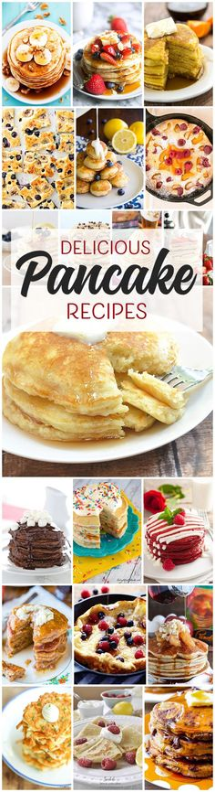 Tons of yummy pancake recipes to get your mouth watering! Delicious combinations you've never even dreamed of! Make these for any special occasion!