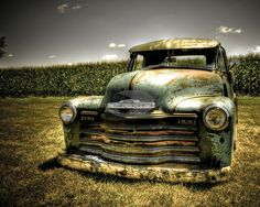 Getting old..1950 Chevy Pick Up.
