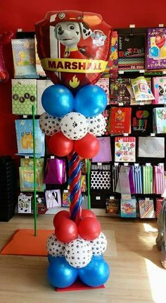 paw patrol balloon decoration - Buscar con Google