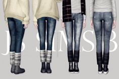 Denim Jeans With Warm Socks by JS Sims 3 - Sims 3 Downloads CC Caboodle Check more at http://customcontentcaboodle.com/denim-jeans-with-warm-socks-by-js-sims-3/
