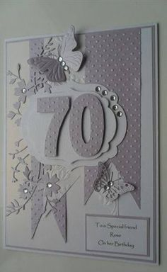 Image result for handmade 60th birthday cards for female