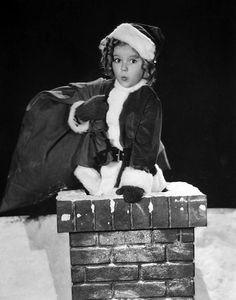 Shirley Temple Vintage Photo Portrait Santa Claus by Otto Dyar