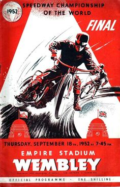 Speedway World Final Wembley proramme...1952