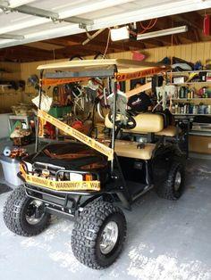 vals halloween golf cart