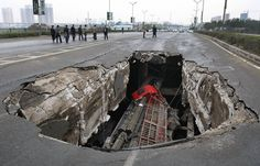 Sink hole in China