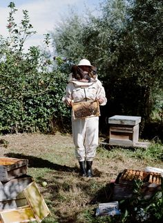 Beekeeper. The Cotswolds, UK. Outtake from the Kinfolk Cookbook project. 2012.