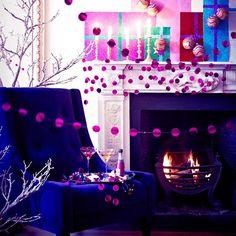 Go for bold colour | Modern Christmas living room ideas | housetohome.co.uk | Mobile