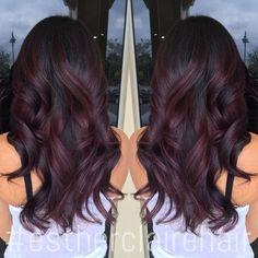 Black Burgundy Hair Color                                                       …