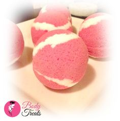 Pomegranate Mango Bath Bomb Fizzy - Body Treats Handmade Bath and Body Bath Soak - Vegan - 5oz