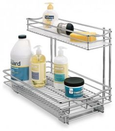 Roll-Out Under-Sink Drawer  Annoyed by all the clutter under your sink? Not enough room? Yes. This is a fab solution. Maximize... more »  $74.99   Bed Bath and Beyond