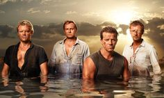 Marc Warren, Philip Glenister, Max Beesley and John Simm in Mad Dogs