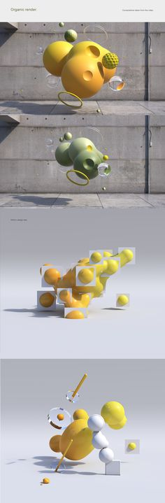 Blob Mesh - Ismael Mensa project designed to create moving shapes and geometries. The idea of representing a realistic architectural area with a geometry with an unreal movement is to create a contrast between the back and the animated volume… Motion Design, Design Thinking, Design Ios, 3d Artwork, Cg Art, 3d Prints, 3d Max, Creative Advertising, Abstract Shapes
