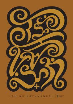 Baybayin Script Initiative on Behance Alibata Tattoo, Philippines Tattoo, Baybayin, Filipino Art, Philippine Art, Arm Tats, Philippines Culture, Dream Tattoos, Graphic Design Art