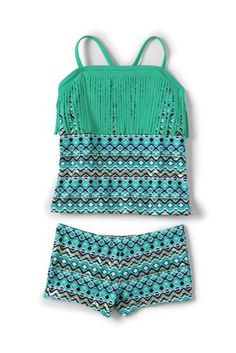 Girls Fringe Two Piece Tankini from Lands' End