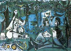 Dejeuner sur l'herbe. Picasso1860