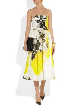 Christopher Kane Printed silk bustier & Printed silk-organza skirt (WANT! NEED!)