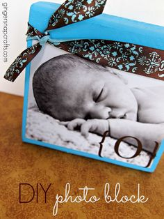 DIY Photo Block - Ginger Snap Crafts - Cherished Bliss