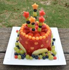 Watermelon Cake Recipe With Real Watermelon | FOR THIS 'CAKE' YOU'LL NEED: