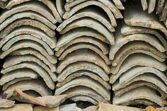 Old Greek Roof Tiles