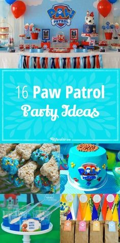 16 Paw Patrol Party Ideas via @tipjunkie