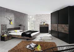 Schlafzimmer komplett Sumatra Schwarz Vintage 8437. Buy now at https://www.moebel-wohnbar.de/schlafzimmer-komplett-sumatra-schwarz-vintage-8437.html