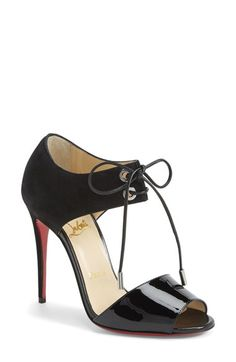 Christian Louboutin Tie-Up Leather Sandal available at #Nordstrom