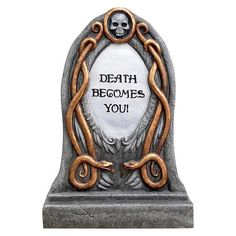 "Halloween Premium ""Death Becomes You"" Tombstone : Target"