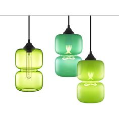 Pantone's 2017 Refreshing Color of the Year Reflects Glass Pendant... ❤ liked on Polyvore featuring home, lighting, glass lighting, colored lights, colored glass lamps, colored glass pendant lights and colored glass lighting