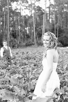 Took our wedding photos in the crops at the farm for our fall, country wedding. Cleopatra Photography