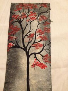 tree painting in acrylics