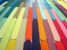 nathalie chikhi's popsicle stick art...I should do something like this for art for our room!