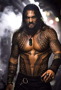 Jason Momoa as Arthur Curry/Aquaman in Justice League Aquaman Film, Aquaman 2018, Jason Momoa Aquaman, Hipster Noir, Hommes Sexy, Gorgeous Men, Actors & Actresses, Dc Comics, Hot Guys
