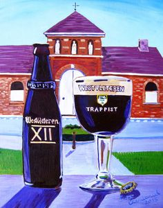 Beer Art Print of Trappist Westvleteren 12 by Scott Clendaniel