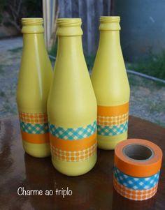 garrafas-washi tape                                                                                                                                                                                 Mais