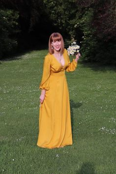 A Silky Yellow Magnolia Maxi Dress Clothes Rail Ikea, Yellow Magnolia, My Sewing Room, Sewing Blogs, Yellow Dress, Dressmaking, Looks Great, Nice Dresses, Dress Up