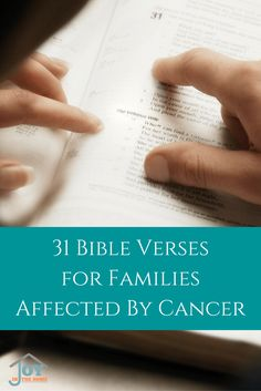 Cancer. That word brings fear and doubt like no other word when it is stated with a name of a loved one. These Bible verses help build your faith, and peace.