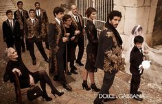 D are not my favourite label, but I think this photoshoot idea is grand - a Sicilian winter wedding!