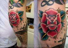 Elbow tattoos are awesome, especially when they come in pairs! Come on, what's more hardcore than a person rocking two bold elbow tattoos? Rose Elbow Tattoo, Elbow Tattoos, Skull Tattoos, Rose Tattoos, Sexy Tattoos, Arm Tattoo, Tattoos For Guys, Sleeve Tattoos, Traditional Tattoo Elbow
