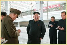 Inspection of Construction Site of Pyongyang International Airport