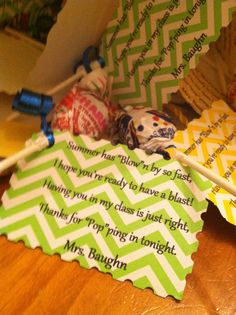 Open House gifts for my 5th graders!
