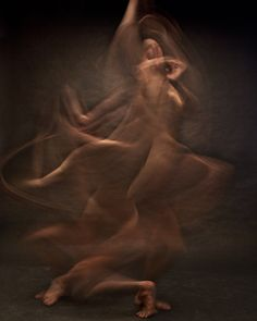 Blurred Long Exposure Portraits Showing Dancers in Motion, by Bill Wadman