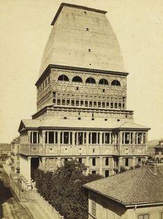 La Mole antonelliana durante la sospensione dei lavori - 1873 ca  Foto dell'Archivio Storico della Città di #Torino