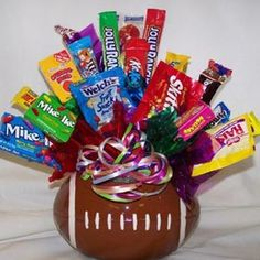 Football Candy Bouquet, Gift Ideas, Gifts/Gift Baskets
