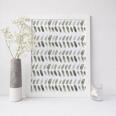 Moroccan Decor Digital Download Pattern Wall Art Leaf